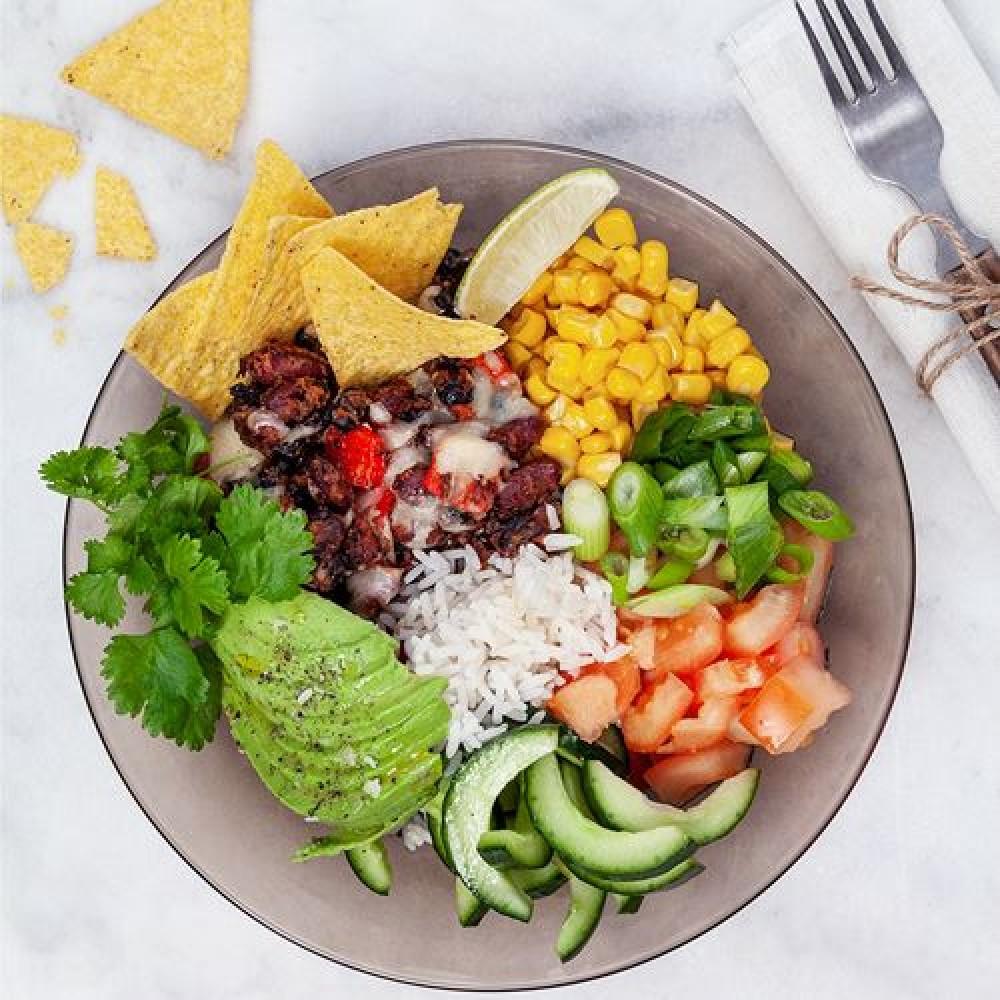 Burrito bowl med tortillachips